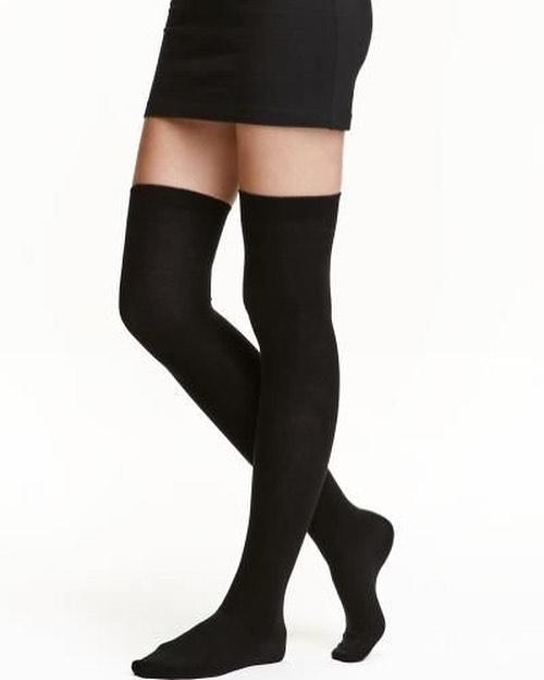 جوراب ساق بلند ساده مشکی – فروشگاه آذینو