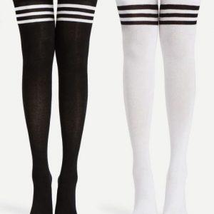 جوراب ساق بلند سه خط - فروشگاه آذینو