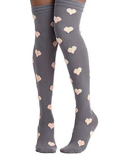 جوراب ساق بلند قلب قلبی – فروشگاه آذینو