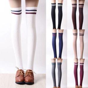 جوراب ساق بلند دو خط - فروشگاه آذینو