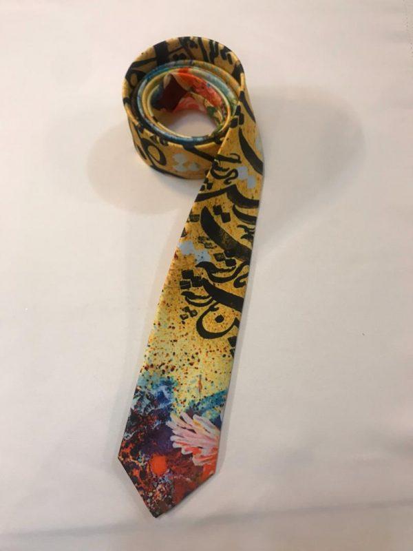 کراوات ابریشم طرح شعر - آذینو
